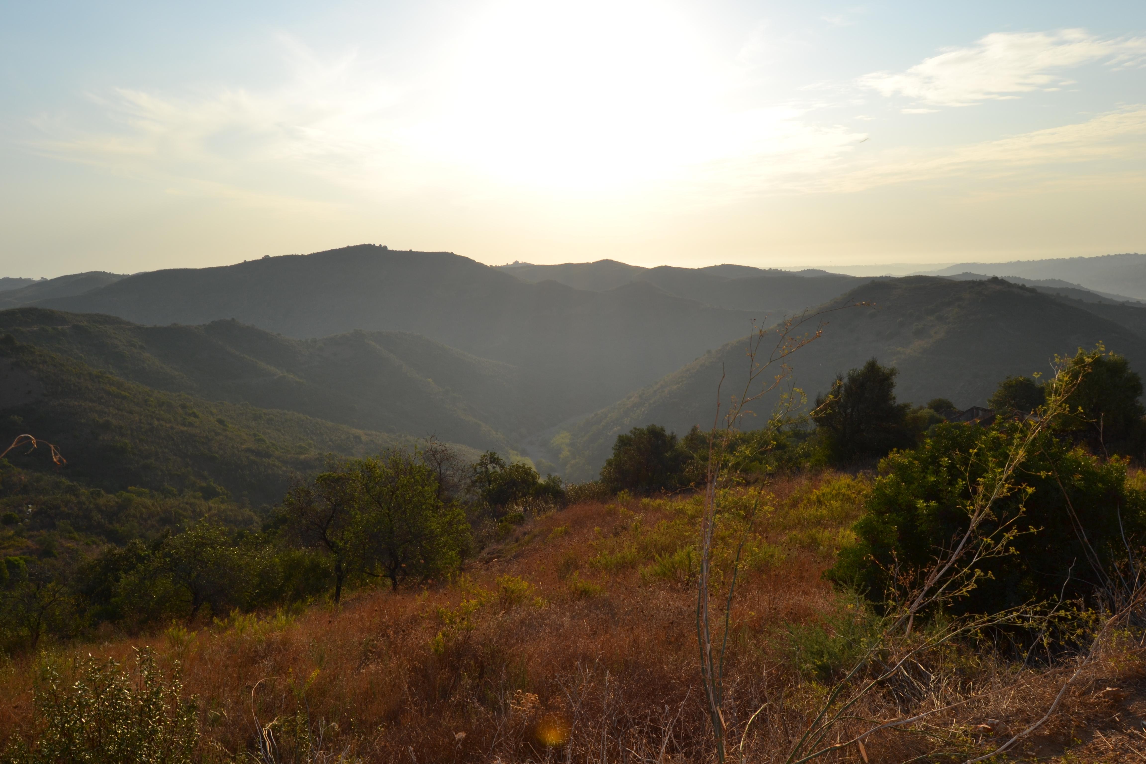 Aftenudsigt over dalen